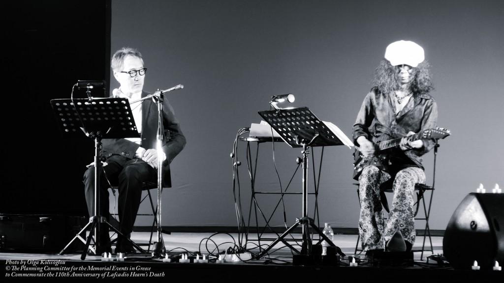 「小泉八雲・朗読の夕べ」(2014年のギリシャ・レフカダ公演)